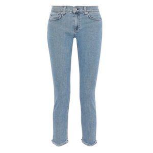 Rag & bone dre cropped frayed slim leg jean